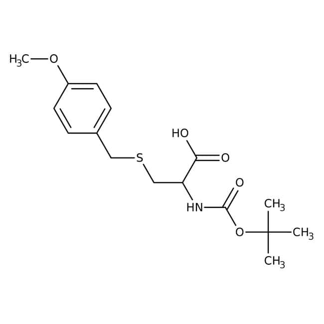 Alfa Aesar™N-Boc-S-(4-methoxybenzyl)-L-cysteine, 98% 25g Alfa Aesar™N-Boc-S-(4-methoxybenzyl)-L-cysteine, 98%