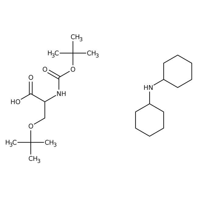Alfa Aesar™N-Boc-O-tert-butyl-L-serine dicyclohexylammonium salt, 98% 25g Alfa Aesar™N-Boc-O-tert-butyl-L-serine dicyclohexylammonium salt, 98%