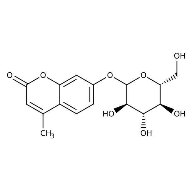 4-Methylumbelliferyl- -D-glucopyranoside, 99%, ACROS Organics