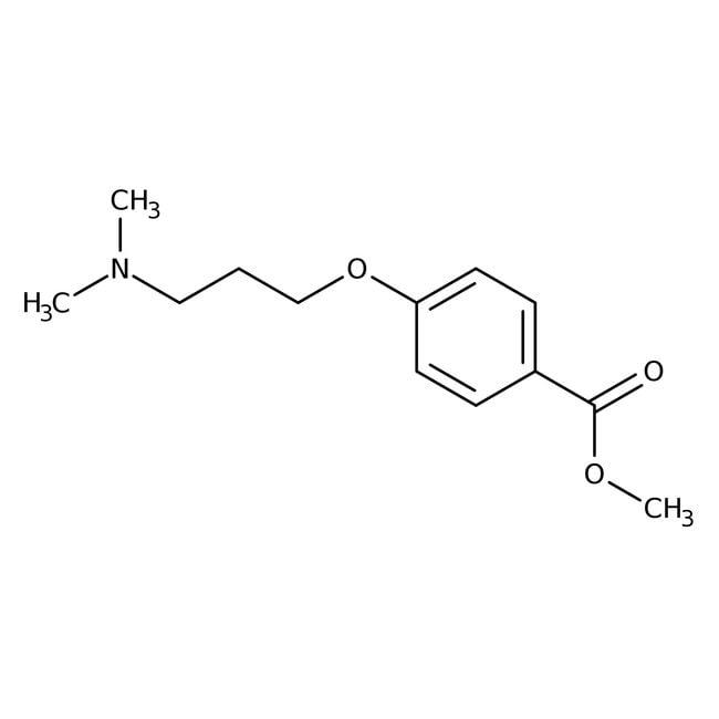 Methyl 4-[3-(dimethylamino)propoxy]benzoate, 97%, Maybridge™ Amber Glass Bottle; 1g prodotti trovati