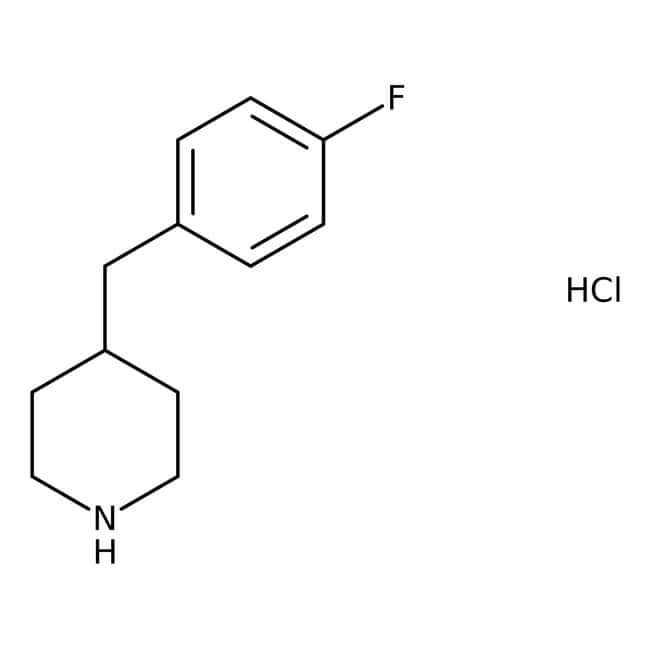 Alfa Aesar™4-(4-Fluorobenzyl)piperidine hydrochloride, 97% 1g Alfa Aesar™4-(4-Fluorobenzyl)piperidine hydrochloride, 97%