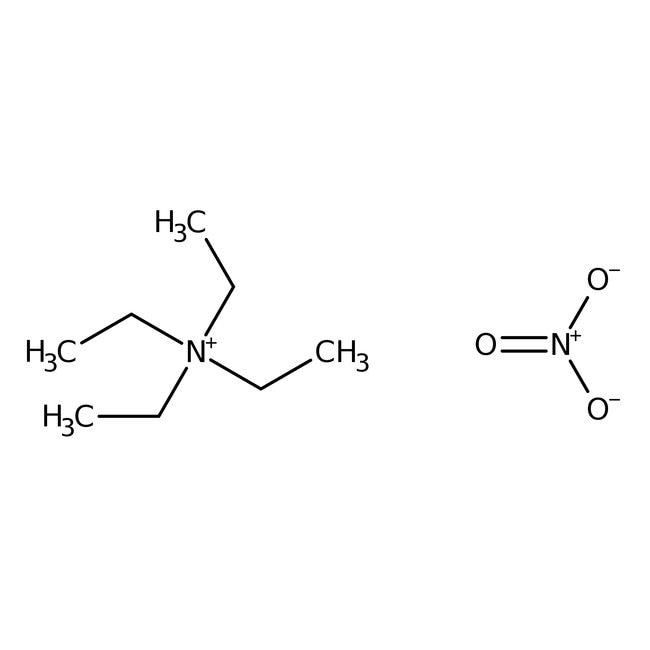 Tetraethylammonium nitrate, 99%, Acros Organics 10g; Glass bottle Tetraethylammonium nitrate, 99%, Acros Organics