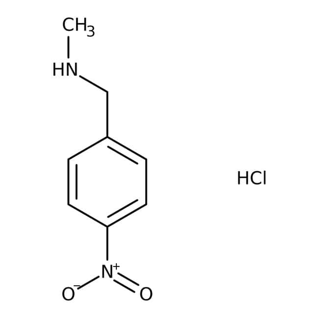 N-Methyl-N-(4-Nitrobenzyl)aminhydrochlorid, 90 %, Maybridge Braunglasflasche, 10 g N-Methyl-N-(4-Nitrobenzyl)aminhydrochlorid, 90 %, Maybridge