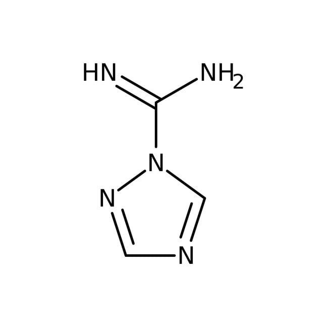 Alfa Aesar™1H-1,2,4-Triazole-1-carboxamidine hydrochloride, 98% 25g Alfa Aesar™1H-1,2,4-Triazole-1-carboxamidine hydrochloride, 98%