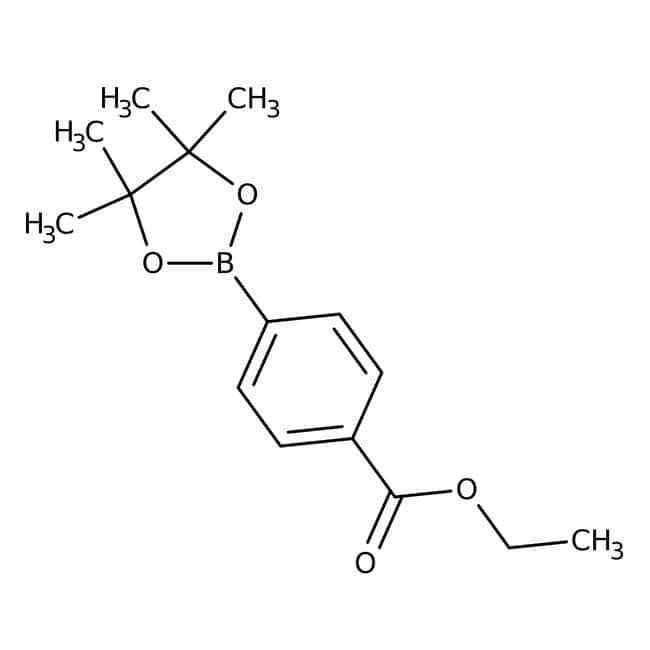 Alfa Aesar™4-(Ethoxycarbonyl)-benzolboronsäurepinakolester, 97% 1g Alfa Aesar™4-(Ethoxycarbonyl)-benzolboronsäurepinakolester, 97%