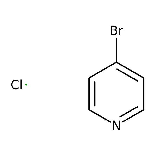 4-Bromopyridine Hydrochloride, 98%, ACROS Organics™ 5g; Glass bottle 4-Bromopyridine Hydrochloride, 98%, ACROS Organics™