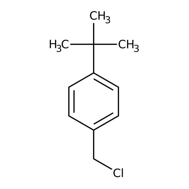 4-(tert-Butyl)benzylchloride, 97%, ACROS Organics™ 25g; Glass bottle 4-(tert-Butyl)benzylchloride, 97%, ACROS Organics™