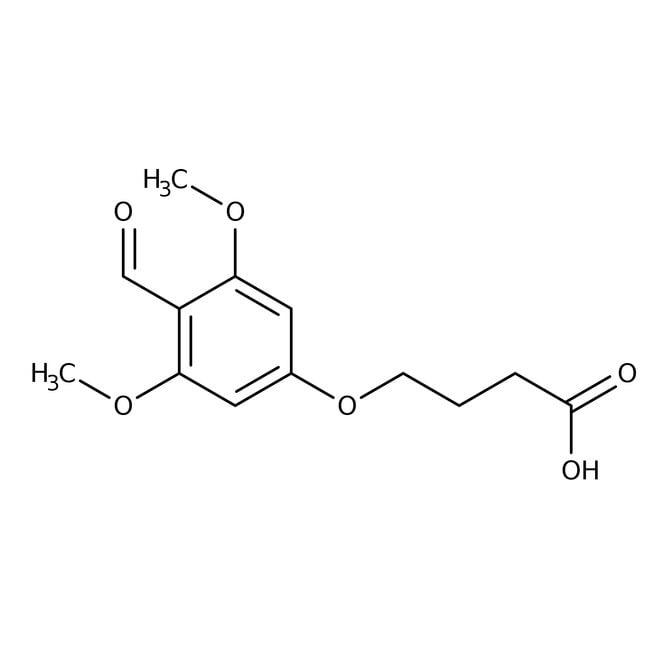 4-(4-Formyl-3,5-dimethoxyphenoxy)butyric acid, 97%, ACROS Organics™  prodotti trovati