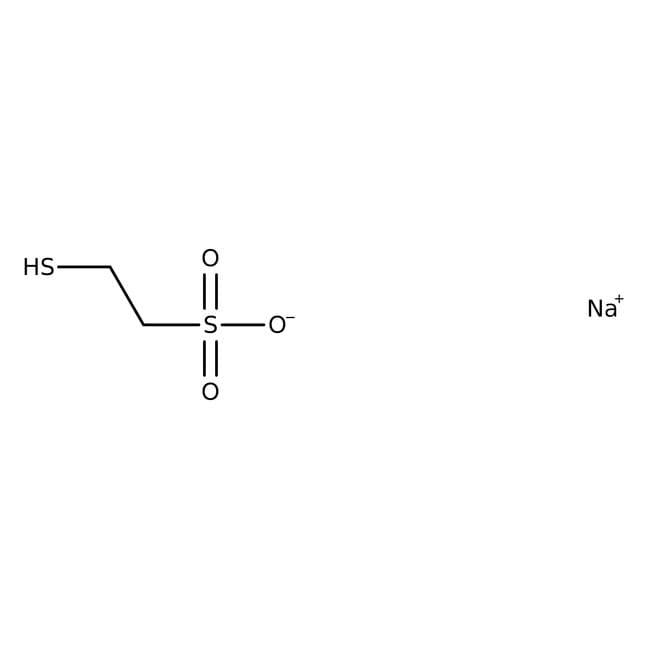 2-Mercaptoethanesulfonic acid sodium salt, 98%, analytical standard, ACROS Organics™ 5g 2-Mercaptoethanesulfonic acid sodium salt, 98%, analytical standard, ACROS Organics™