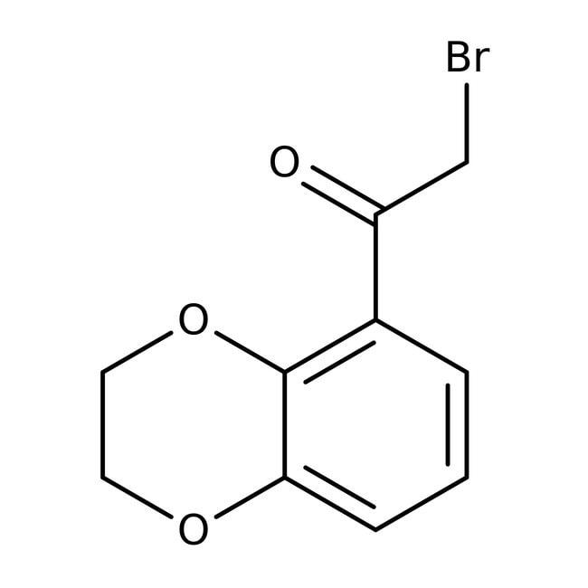2-Bromo-1-(2,3-dihydro-1,4-benzodioxin-5-yl)-1-ethanone, 97%, Maybridge™