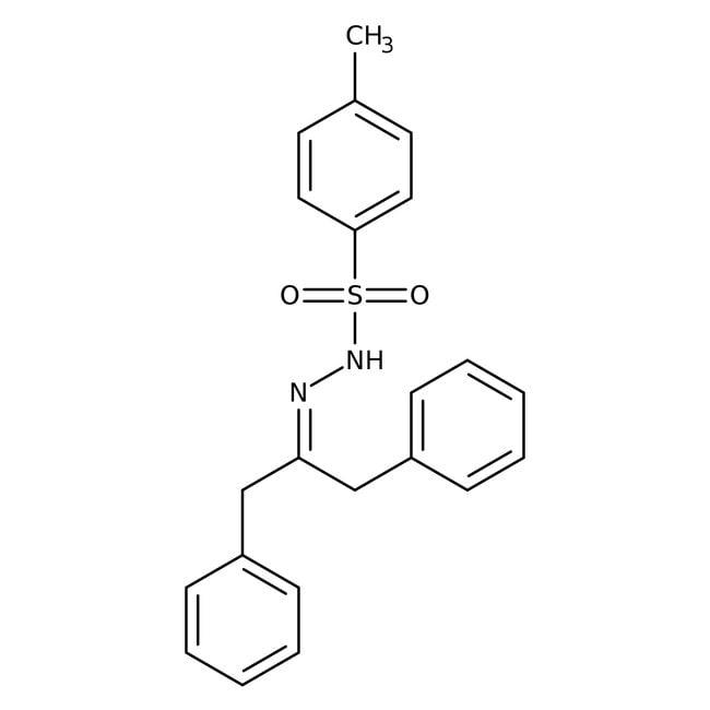 Alfa Aesar™p-toluènesulfonylhydrazone de 1,3-diphénylacétone, 99% 50g Alfa Aesar™p-toluènesulfonylhydrazone de 1,3-diphénylacétone, 99%