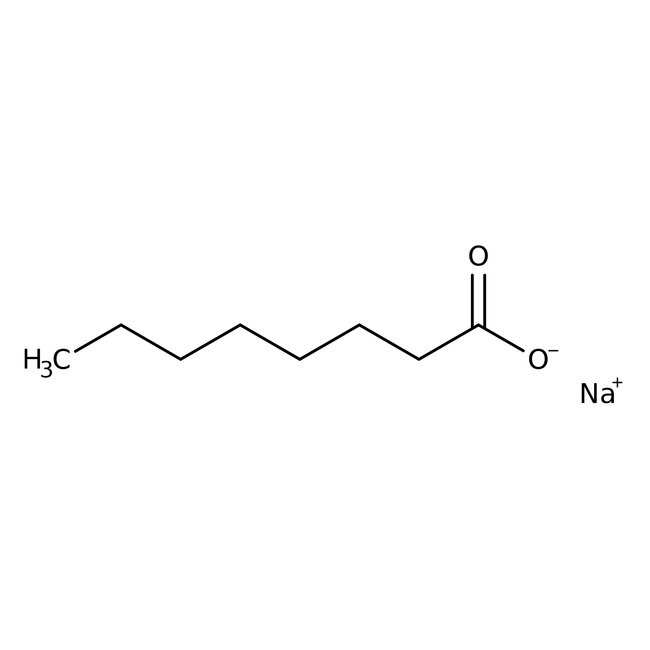 Sodium caprylate, 98%, ACROS Organics™ 500g; Plastic bottle Sodium caprylate, 98%, ACROS Organics™