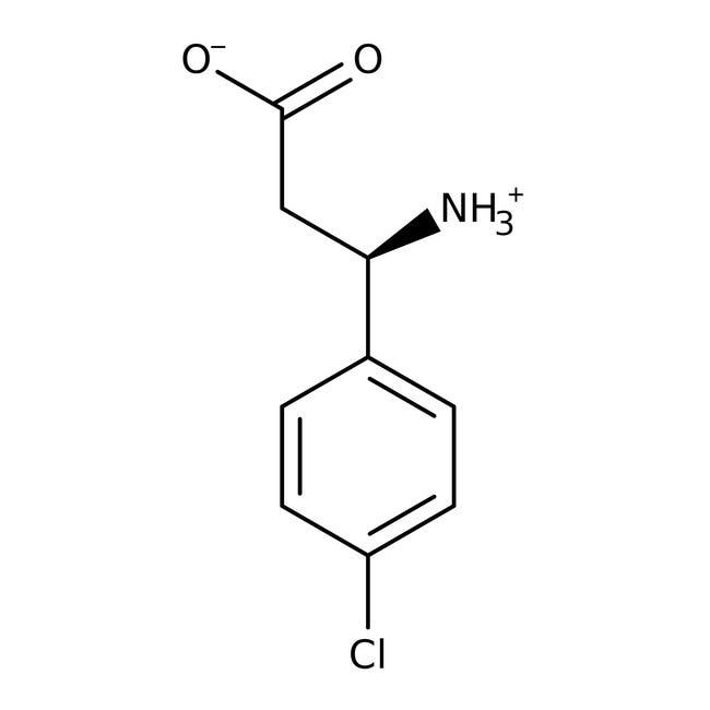 3-Amino-3-(p-chlorophenyl)propionic acid, 98%, ACROS Organics™ 5g; Glass bottle 3-Amino-3-(p-chlorophenyl)propionic acid, 98%, ACROS Organics™