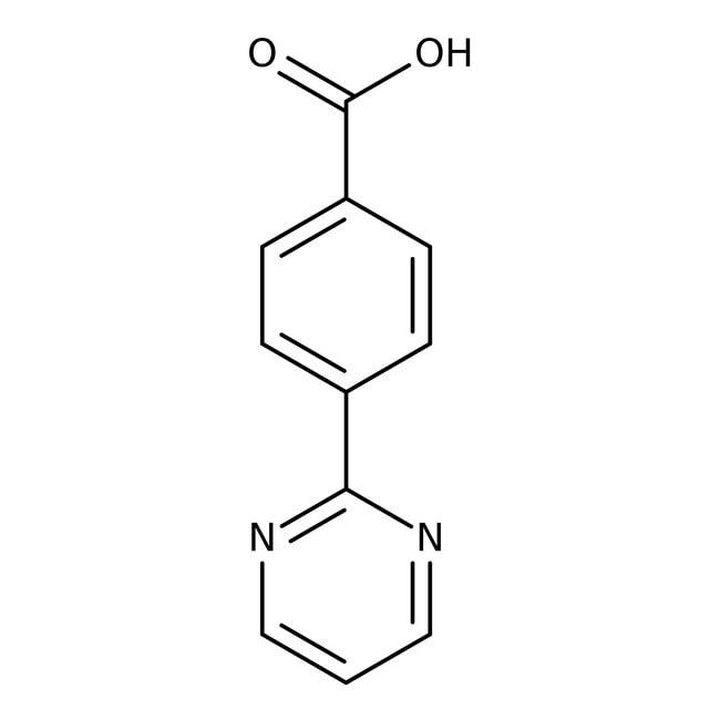 4-Pyrimidin-2-ylbenzoic acid, 97%, Maybridge Amber Glass Bottle; 1g 4-Pyrimidin-2-ylbenzoic acid, 97%, Maybridge