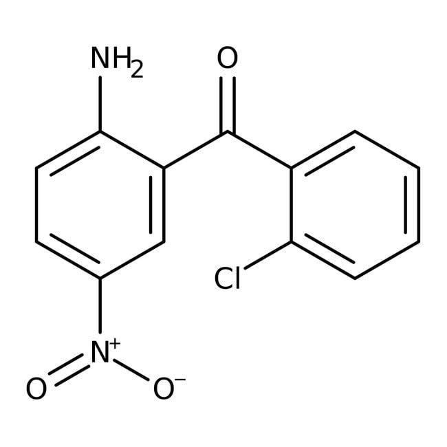 Alfa Aesar™2-Amino-2'-chloro-5-nitrobenzophenone, 98% 100g Alfa Aesar™2-Amino-2'-chloro-5-nitrobenzophenone, 98%