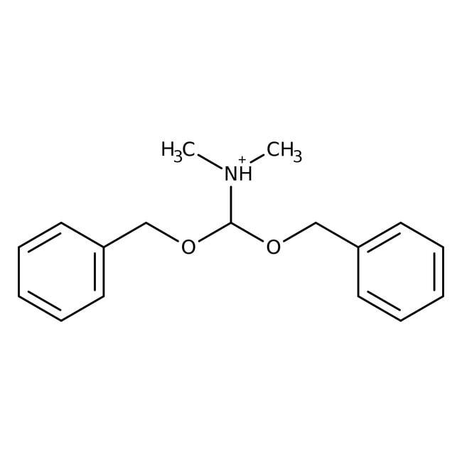 Alfa Aesar™Acetal dibencílico de N,N-dimetilformamida, téc. 80% 50g Alfa Aesar™Acetal dibencílico de N,N-dimetilformamida, téc. 80%