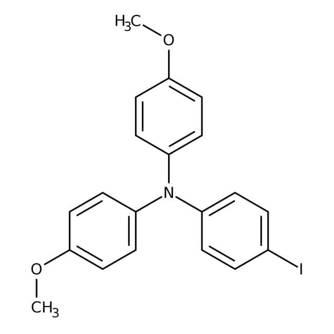 4-Iodo-4′,4′′-dimethoxytriphenylamine 98.0+%, TCI America™