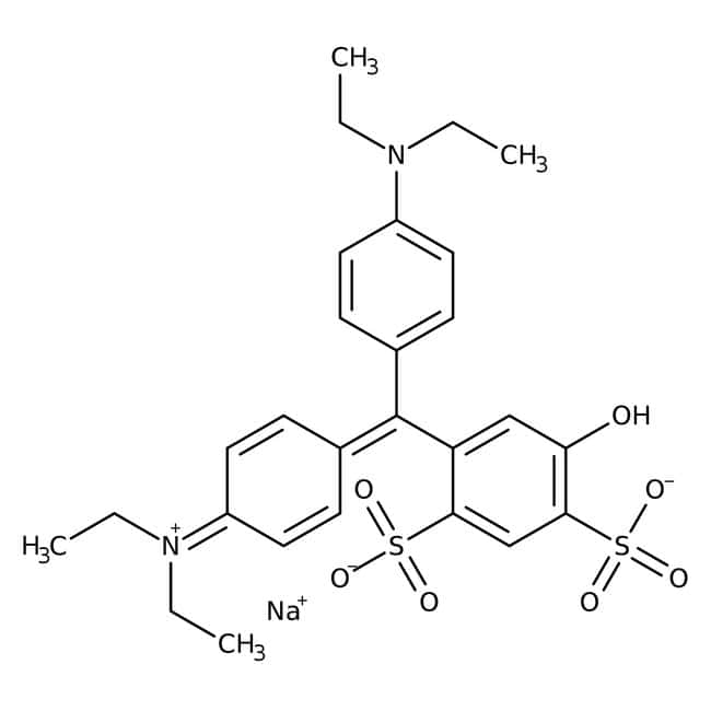 Patent Blue V, sodium salt, ACROS Organics™ 5g; Glass bottle Patent Blue V, sodium salt, ACROS Organics™