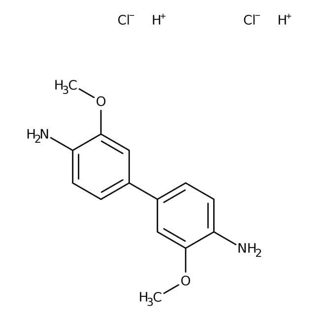 3,3'-Dimethoxybenzidine dihydrochloride, 98%, ACROS Organics