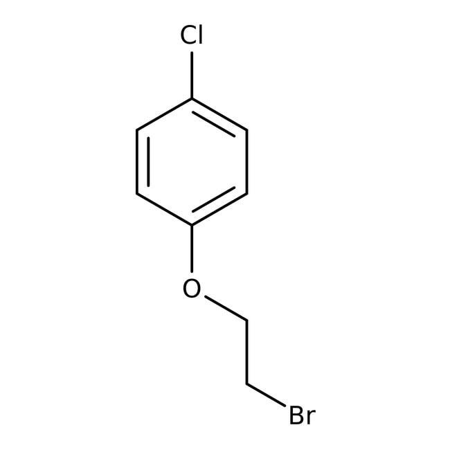 1-(2-Bromoethoxy)-4-chlorobenzene, 99%, ACROS Organics™ 25g; Glass bottle 1-(2-Bromoethoxy)-4-chlorobenzene, 99%, ACROS Organics™
