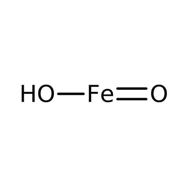 Alfa Aesar™ Iron(III) hydroxide, 20% in H2O, nanoparticle dispersion, low pH, <5.0nm APS Number Weighted 500 g Alfa Aesar™ Iron(III) hydroxide, 20% in H2O, nanoparticle dispersion, low pH, <5.0nm APS Number Weighted