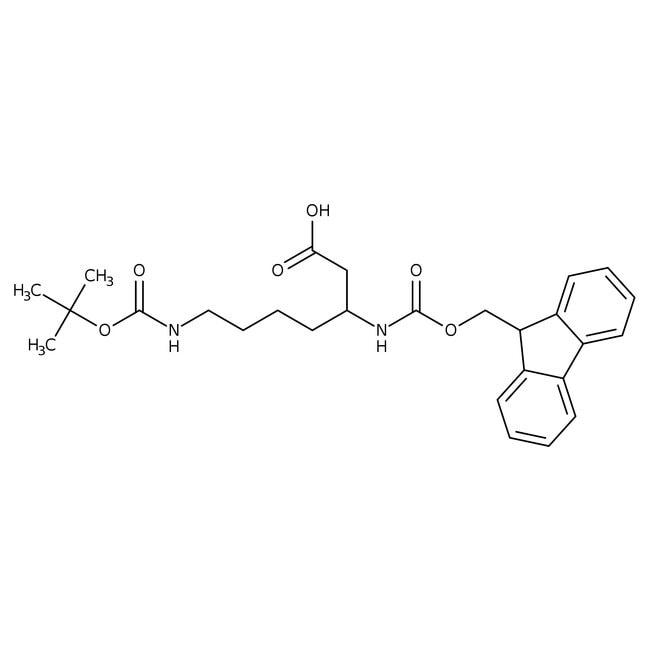 Alfa Aesar™N(omega)-Boc-N(beta)-Fmoc-L-beta-homolysine, 95% 250mg Alfa Aesar™N(omega)-Boc-N(beta)-Fmoc-L-beta-homolysine, 95%