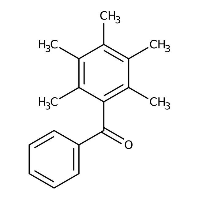 Alfa Aesar™2,3,4,5,6-Pentametilbenzofenona, 98% 5g Alfa Aesar™2,3,4,5,6-Pentametilbenzofenona, 98%