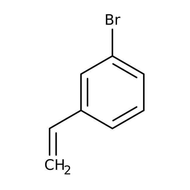 3-Bromostyrene, 97%, stabilized, ACROS Organics™ 1g 3-Bromostyrene, 97%, stabilized, ACROS Organics™