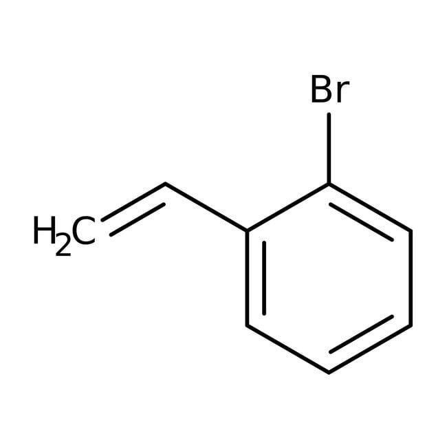 Alfa Aesar™2-Bromoestireno, 96 %, estab. con 0,05 % de 4-terc-butilcatecol aprox. 25g Alfa Aesar™2-Bromoestireno, 96 %, estab. con 0,05 % de 4-terc-butilcatecol aprox.