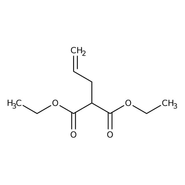 Diethyl allylmalonate, 97%, ACROS Organics™ 100g; Glass bottle Diethyl allylmalonate, 97%, ACROS Organics™