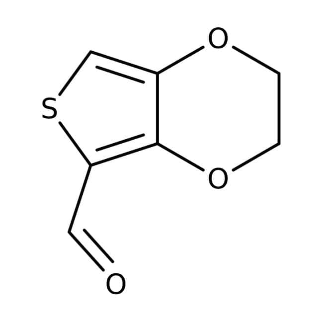 2,3-Dihydrothieno[3,4-b][1,4]dioxine-5-carbaldehyde, ≥97%, Maybridge™ Amber Glass Bottle; 1g 2,3-Dihydrothieno[3,4-b][1,4]dioxine-5-carbaldehyde, ≥97%, Maybridge™