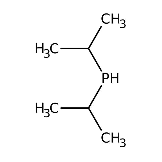 Diisopropylphosphine, 10 wt.% solution in hexanes, Acros Organics 50g; Glass bottle Diisopropylphosphine, 10 wt.% solution in hexanes, Acros Organics