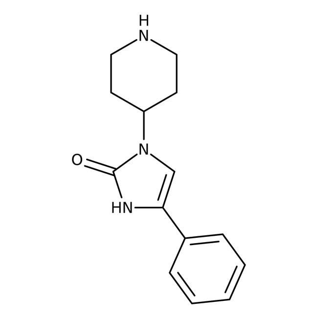 4-Phenyl-1-piperidin-4-yl-1,3-dihydro-2H-imidazol-2-on, Maybridge Braunglasflasche, 1g Phenylimidazoles