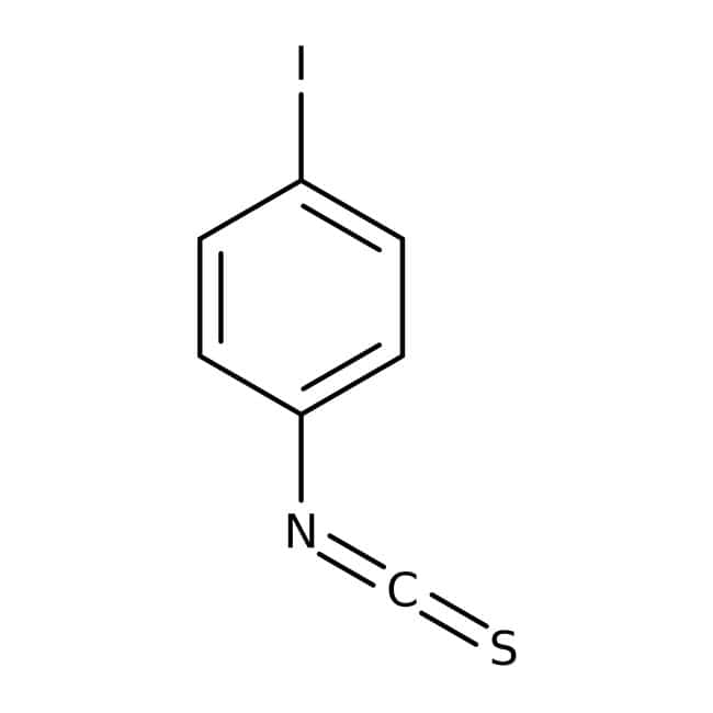4-Iodophenyl isothiocyanate, 97%, Maybridge™ Amber Glass Bottle; 1g 4-Iodophenyl isothiocyanate, 97%, Maybridge™