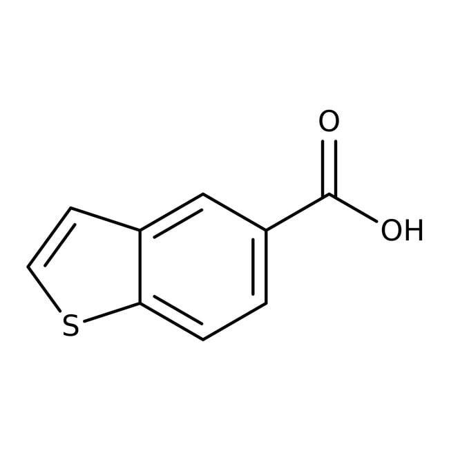 1-Benzothiophene-5-carboxylic acid, 97%, Maybridge Amber Glass Bottle; 250mg 1-Benzothiophene-5-carboxylic acid, 97%, Maybridge