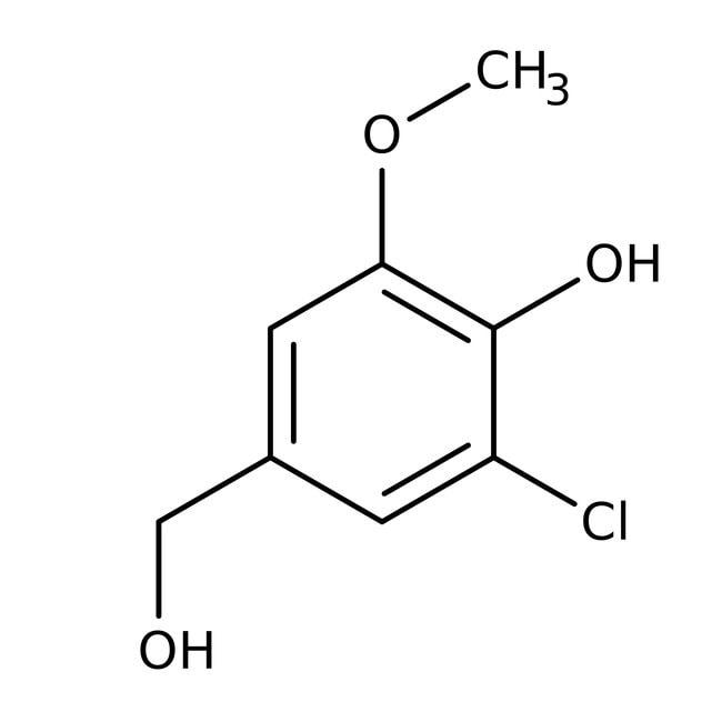 Alfa Aesar™3-Chlor-4-hydroxy-5-Methoxybenzylalkohol, 98%: Chlorophenols Halophenols