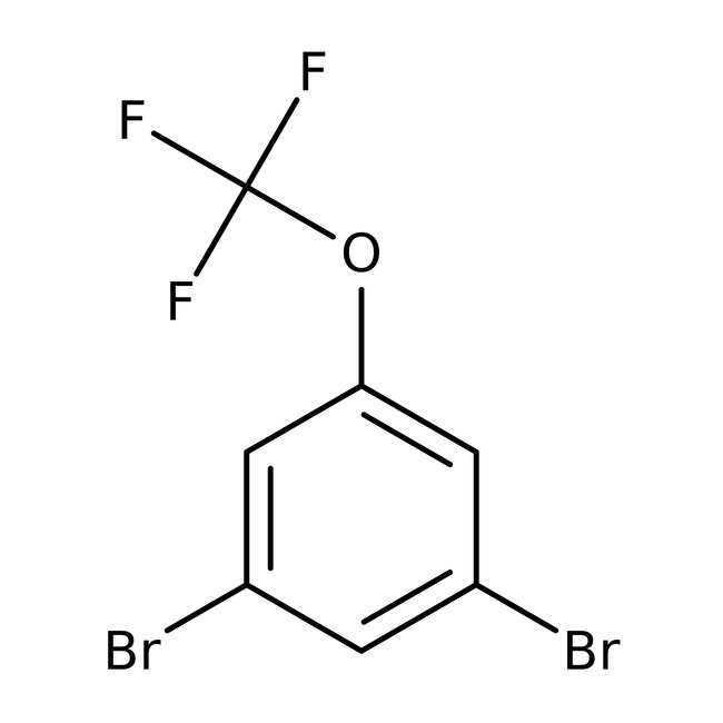 Alfa Aesar™1,3-Dibromo-5-(trifluoromethoxy)benzene, 97% 5g Alfa Aesar™1,3-Dibromo-5-(trifluoromethoxy)benzene, 97%