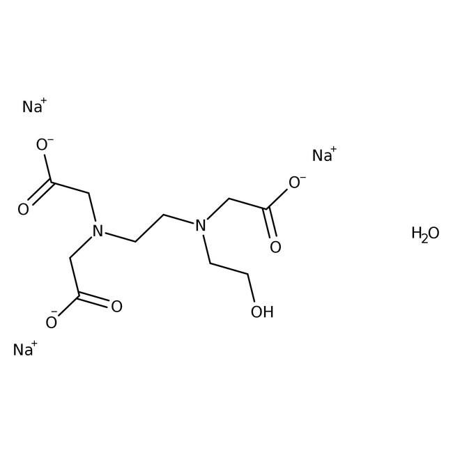 N-(2-Hydroxyethyl)ethylenediaminetriacetic acid, trisodium salt hydrate, 85%, ACROS Organics