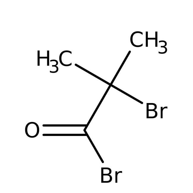 2-Bromo-2-methylpropionyl Bromide, 98%, ACROS Organics™ 100g; Glass bottle 2-Bromo-2-methylpropionyl Bromide, 98%, ACROS Organics™