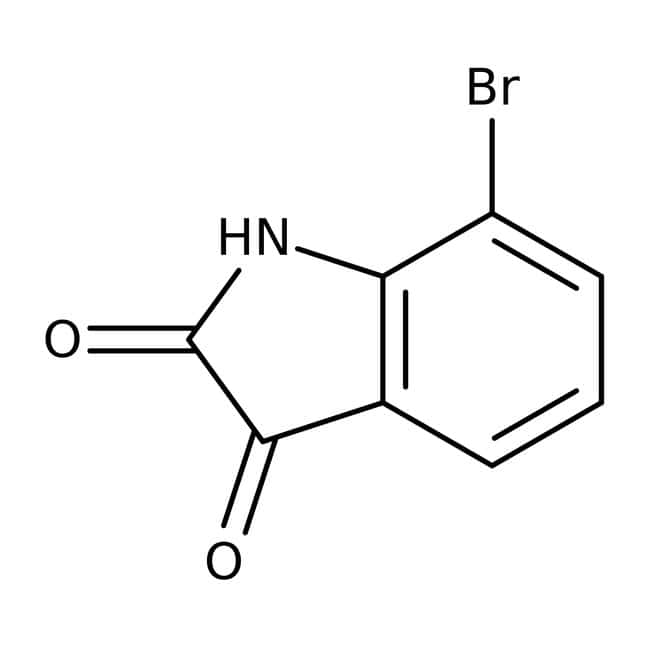 7-Bromo-2,3-dioxoindoline, 97%, Maybridge™ Amber Glass Bottle; 1g 7-Bromo-2,3-dioxoindoline, 97%, Maybridge™