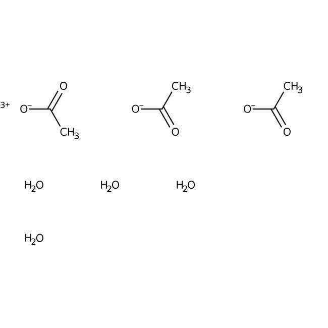 Yttrium acetate hydrate, 99.9%, (trace metal basis), ACROS Organics™ 25g; Glass bottle Yttrium acetate hydrate, 99.9%, (trace metal basis), ACROS Organics™