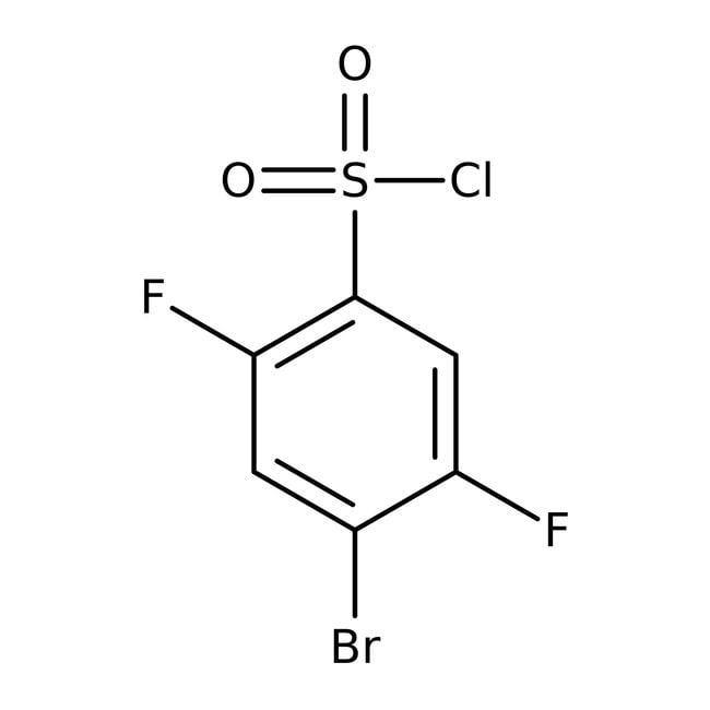 Alfa Aesar™4-Bromo-2,5-difluorobenzenesulfonyl chloride, 97% 5g Alfa Aesar™4-Bromo-2,5-difluorobenzenesulfonyl chloride, 97%