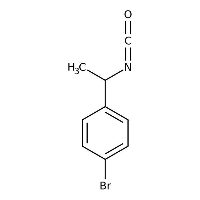 Alfa Aesar™(+/-)-1-(4-bromophényl)isocyanate d'éthyle, 97 % 5g Alfa Aesar™(+/-)-1-(4-bromophényl)isocyanate d'éthyle, 97 %
