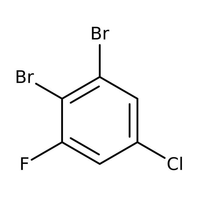 Alfa Aesar™1,2-Dibromo-5-cloro-3-fluorobenceno, 98% 5g Alfa Aesar™1,2-Dibromo-5-cloro-3-fluorobenceno, 98%