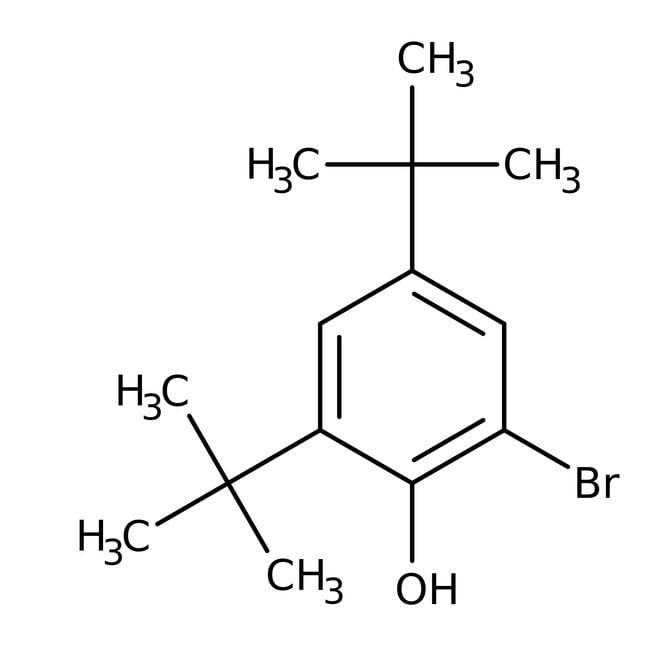 Alfa Aesar™2-Bromo-4,6-di-terc-butilfenol, 97% 25g Alfa Aesar™2-Bromo-4,6-di-terc-butilfenol, 97%