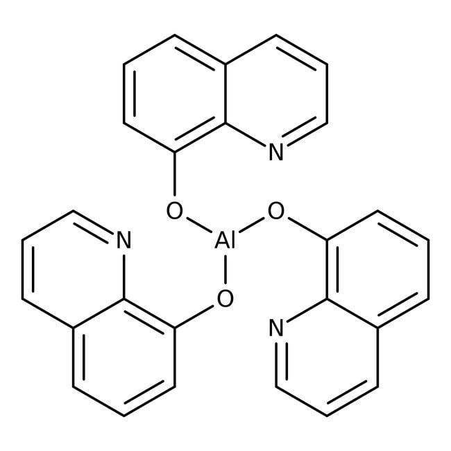 Alfa Aesar™Tris-(8-hydroxychinolinat)-aluminium, 99% 25g Alfa Aesar™Tris-(8-hydroxychinolinat)-aluminium, 99%