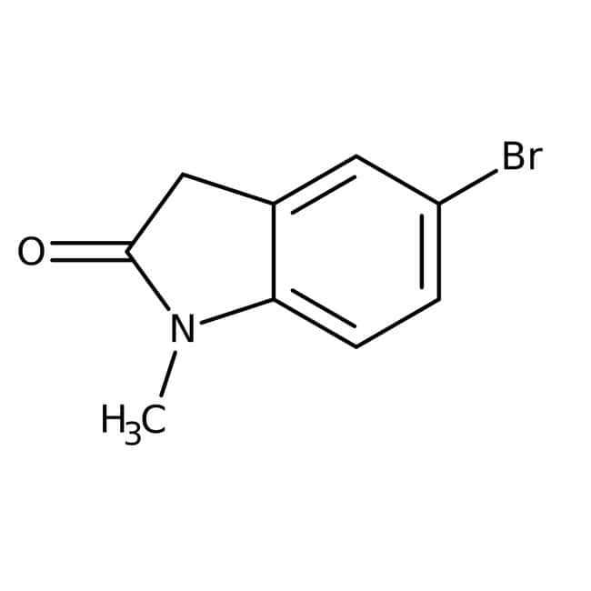5-Bromo-1-methyl-2-oxoindoline, 97%, Maybridge™ Amber Glass Bottle; 1g 5-Bromo-1-methyl-2-oxoindoline, 97%, Maybridge™