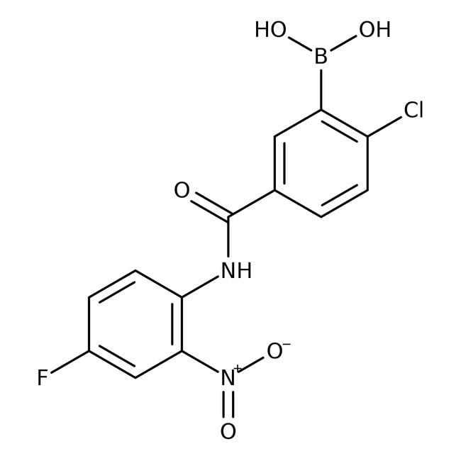 Alfa Aesar™2-Chloro-5-(4-fluoro-2-nitrophenylcarbamoyl)benzeneboronic acid, 97% 250mg products