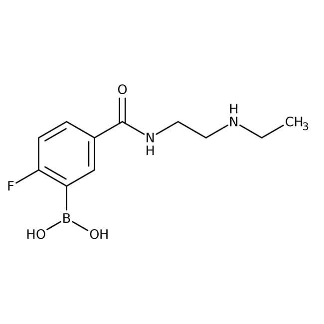 5-[2-(Ethylamino)ethylcarbamoyl]-2-fluorobenzeneboronic acid, 97%, Alfa Aesar™: Home
