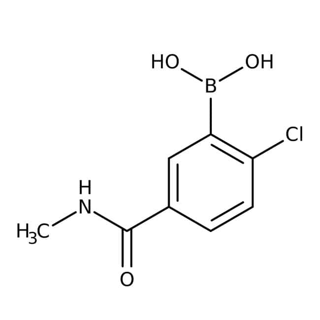Alfa Aesar™2-Chloro-5-(methylcarbamoyl)benzeneboronic acid, 97% 1g Products